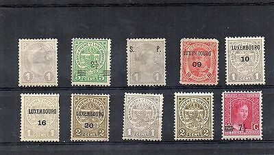 H.Mint and Used - Luxembourg x 10 stamps