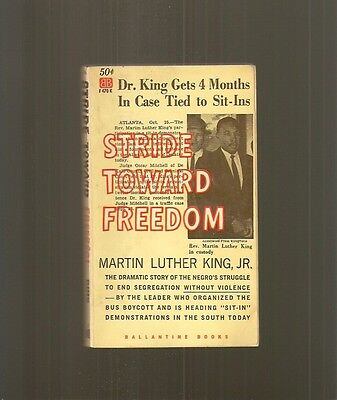 1st book by Martin Luther King vintage old paperback Stride Toward Freedom 1961