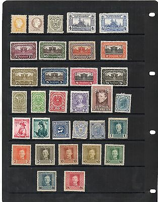H.Mint and Used - Austria x 32 stamps