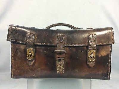 Ww2 British Army Brown Leather Tool Box / Cartridge Case, Dated 1941