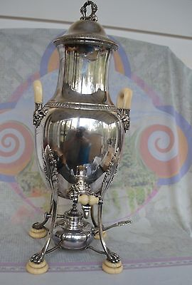 Edmond Tetard, late 19th century coffee/tea urn, samovar, 950/1000 silver