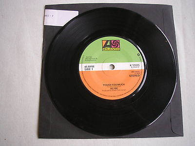"""AC/DC Touch Too Much UK 7"""" 1979 ex"""