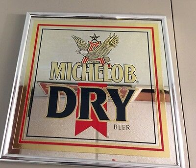 Michelob Dry Beer Mirror Man Cave Decor