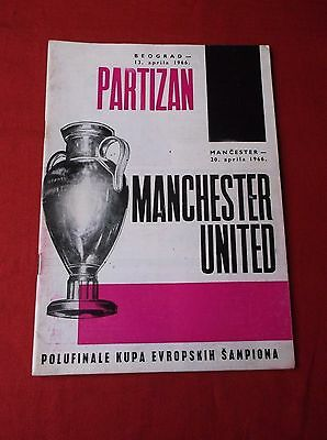 Partizan Belgrade   V Manchester United  European Cup Semi Final 1966