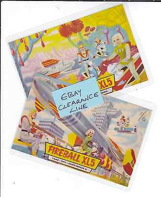 2 Photo Art Cards Gerry Anderson's FIREBALL XL5 - Clearance Line - Only £1.49