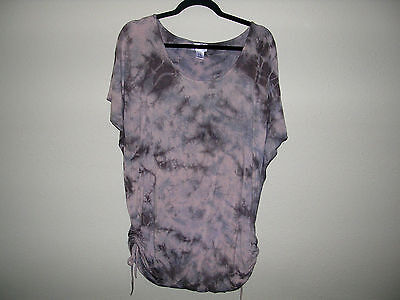 EUC Motherhood Maternity 2pc Outfit black Leggings (M) & tie-dye Tunic (XL)