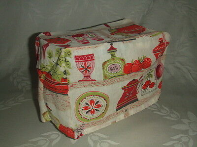 VINTAGE MIDMOD COTTON TOASTER or SMALL APPLIANCE COVER 9 X 4.5 X 7