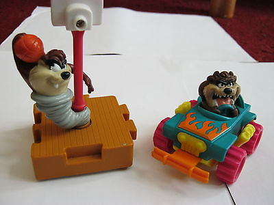 Tasmanian Devil In Car Working Order + Taz The Player Good Condition