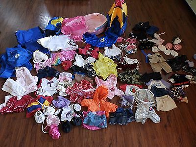 Huge Lot! Build A Bear Outfits Clothes Accessories Shoes Swimsuits Bed Tent Bags