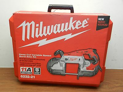 Milwaukee 6232-21 Deep Cut Variable Speed Corded Band Saw Kit New In Box