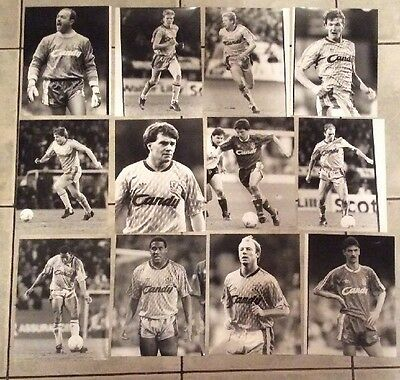 "12 X Original Sporting Pictures Press Photos  Liverpool FC 8.5"" X 6.5"""