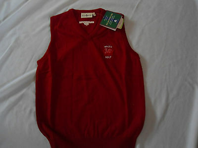 Rare Wales Ladies Golf Glenmuir Golf Sleeveless Jumper Size Small