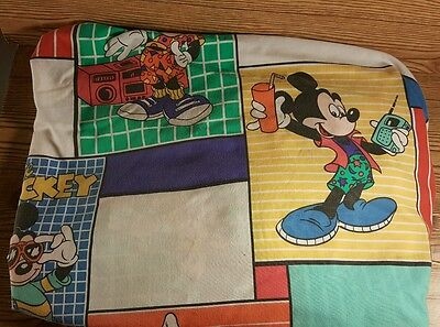 Vintage Disney Cool Mickey Mouse  TWIN  fitted sheet fabric