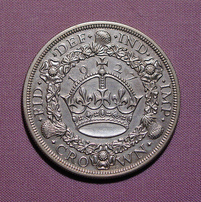 1927 King George V Silver Proof Wreath Crown
