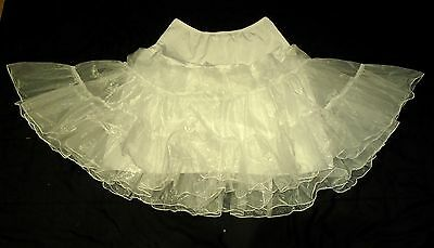 1950s style frilly nylon petticoat with elasticated waist