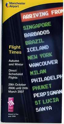 Manchester Airport Timetable 2006-7