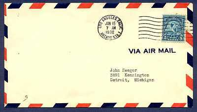 U.S.-FDC 1932 Los Angeles Olympic Games Air Mail to Detroit using stamp #719