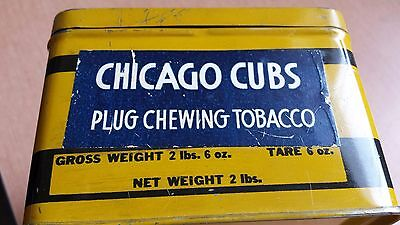 UNIQUE !! CHICAGO CUBS CHEWING TOBACCO TIN  - 1930s