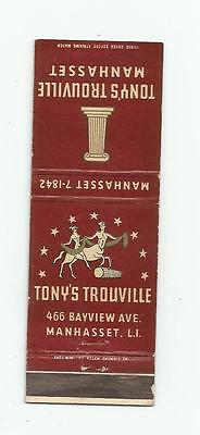 Tony's Trouville   Matchcover  Manhasset  Small Girlie