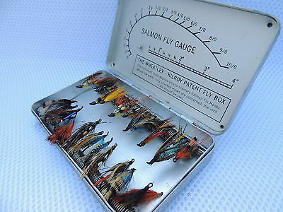 Wheatley - Kilroy Patent Fly Box With Salmon Fly Gauge And Flies