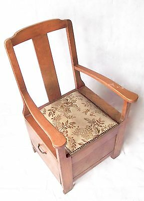 Antique Wooden Commode Chair Disability Aid