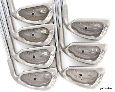 Ping Isi Karsten Black Dot Irons 3-9 Steel True Temper Stiff Flex #d1997