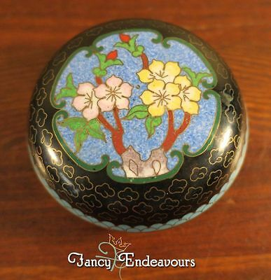 Chinese Cloisonne Floral Enamel Covered Box