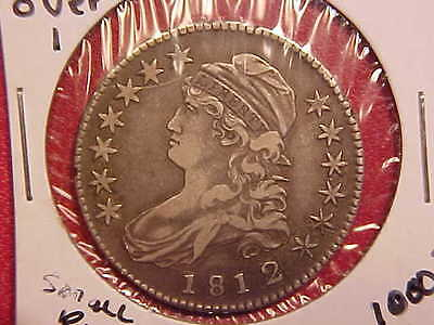 1812 Over 1 Bust Half Dollar - Small Rim Dings - Xf+ - See Pics! - (N5150)