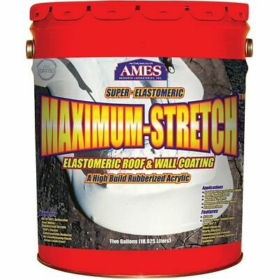 Ames MSS5 5-Gallon White Maximum Stretch Premium Elastomeric Roof Coating