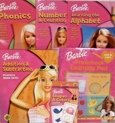 new BARBIE TOY LOT learning toys playset card game preschool kindergarden books