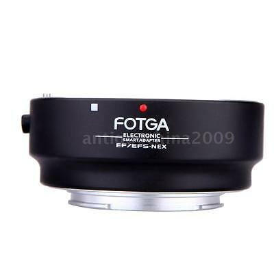 FOTGA Electronic Lens Adapter For Canon EOS EF-S Lens To Sony NEX E-Mount I2T4