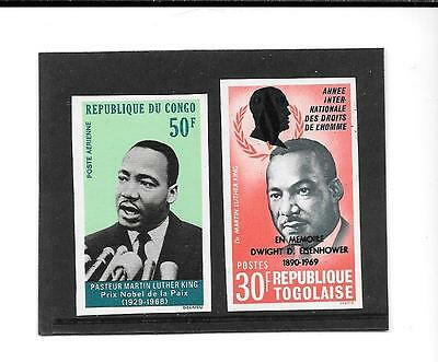 CONGO & TOGO-Martin Luther King in unlisted imperf versions- Low price
