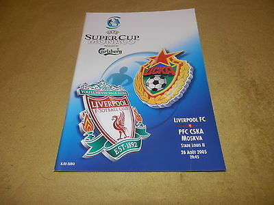 UEFA Super Cup - Liverpool v PFC CSKA Moscow in 2005 in Monaco