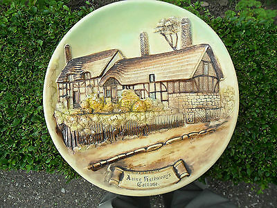 LARGE - Wall Hanging 3D Plaster Cast Plaque Plate Picture Anne Hathaways Cottage