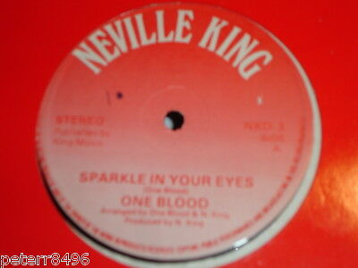 """One Blood - Sparkle In Your Eyes 1976 UK Neville King 12"""" Single"""