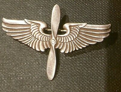 Pilot Badge-Original Usaaf Air Force Cadet Pilot   Wings Marked Sterling