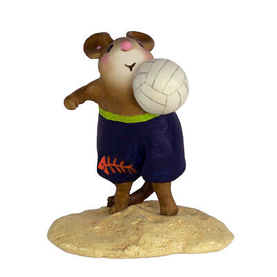 LITTLE BOPPER by Wee Forest Folk, WFF# MS-32 NEW Beach Volleyball Mouse 2016!