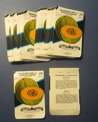 Wholesale Lot of 100 Old Vintage CANTALOUPE - Perfection - SEED PACKETS - EMPTY