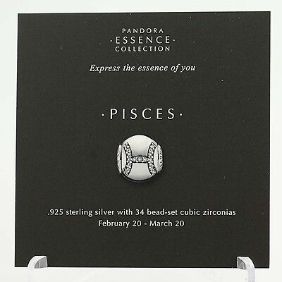 New Pandora Essence Collection Pisces Zodiac Information Bead 13 Stock Cards