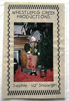 """Whistlepig Creek Productions Doll Pattern Sophie 42"""" Snowgirl"""
