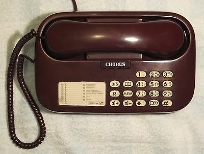 France Telecom MATRA T83 Tone Dial, Electronic Push-Button Phone - in Garnet Red