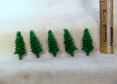 Set Of 5 Gilbert American Flyer S Gauge Pike Master Plastic Trees-Small