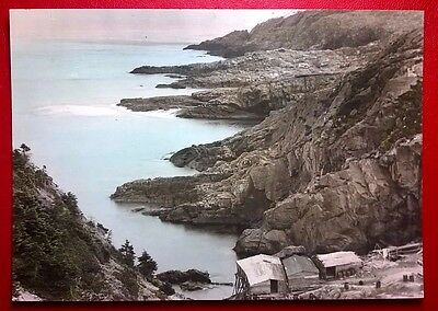 1950's COLOR PHOTO, LOGY BAY, NEWFOUNDLAND, CANADA (6 3/4 X 4 3/4 INCHES)
