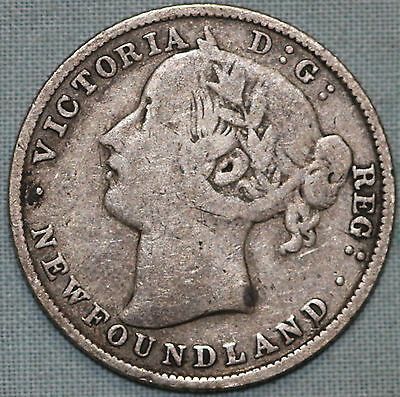 1885 Newfoundland ( Canada) 20 Cents~Sterling Silver~Combined S.& H.