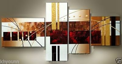 Set(4PCS) Modern Abstract Art Oil Painting On canvas Wall Deco (NO Frame)