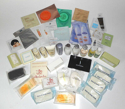 Mixed Large Lot Various Travel Lotions Soaps Wipes Shampoos Conditioners