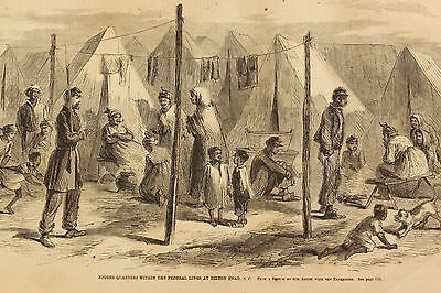 1861 US Civil War NY Illustrated News Hilton Head SC African American Soldiers