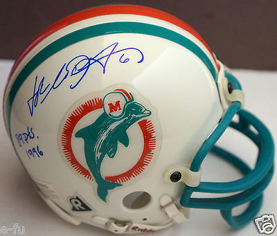 JOE NEDNEY Signed Miami Dolphins Mini Helmet Inscription 89pts 1996 PSA/DNA Auto