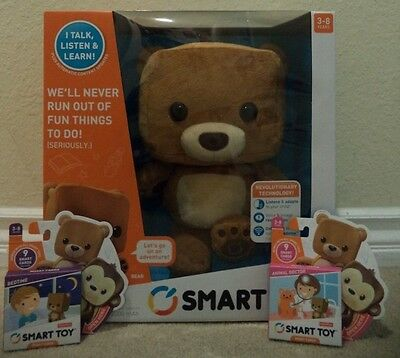 Fisher Price Smart Toy Bear Interactive Bonus Card Packs Included *new*