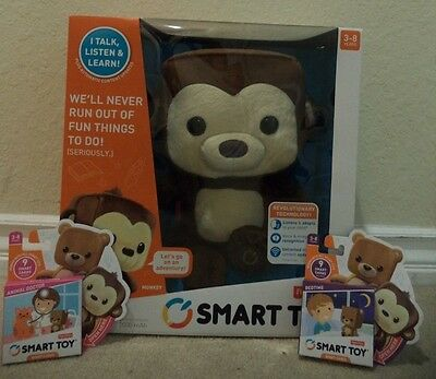 Fisher Price Smart Toy Monkey Interactive Bonus Card Packs Included *new*
